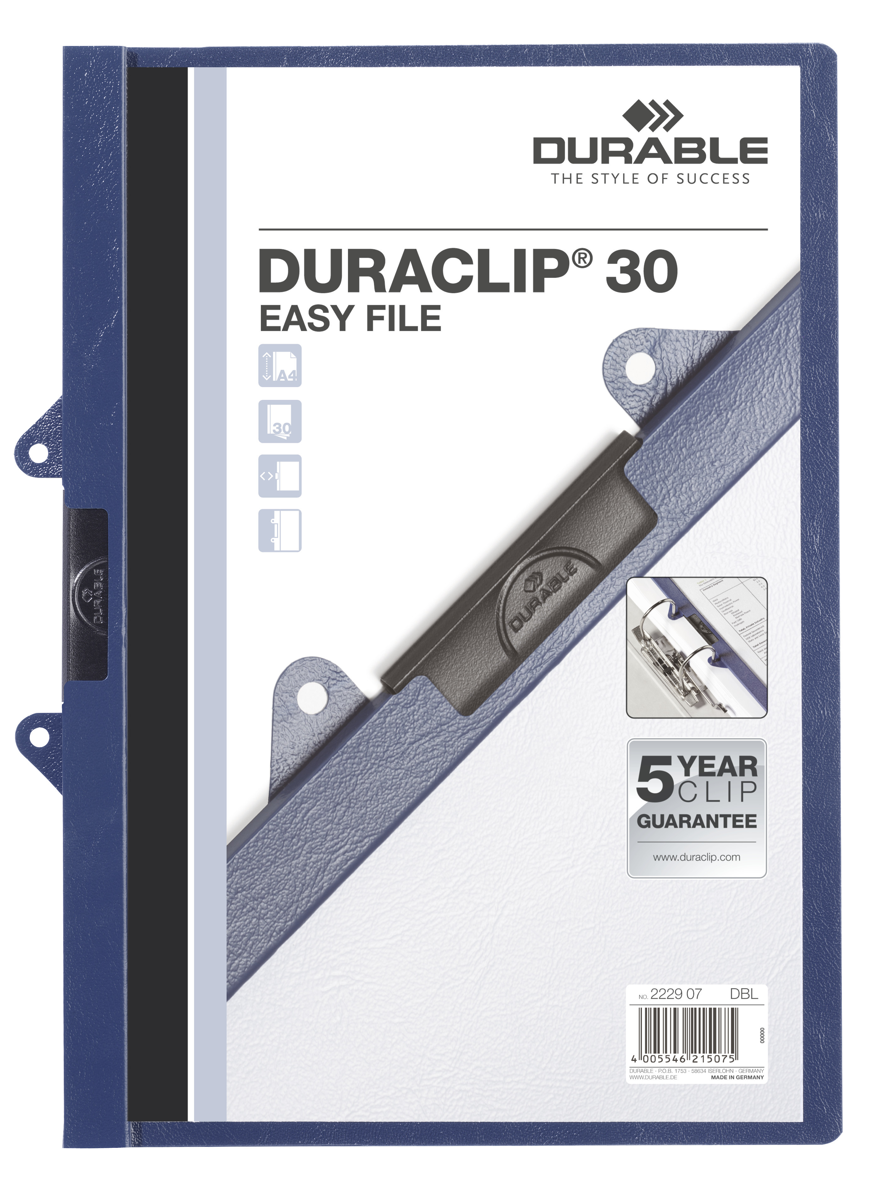 DURABLE DURACLIP® 30 EASY FILE 25 ST Z222999