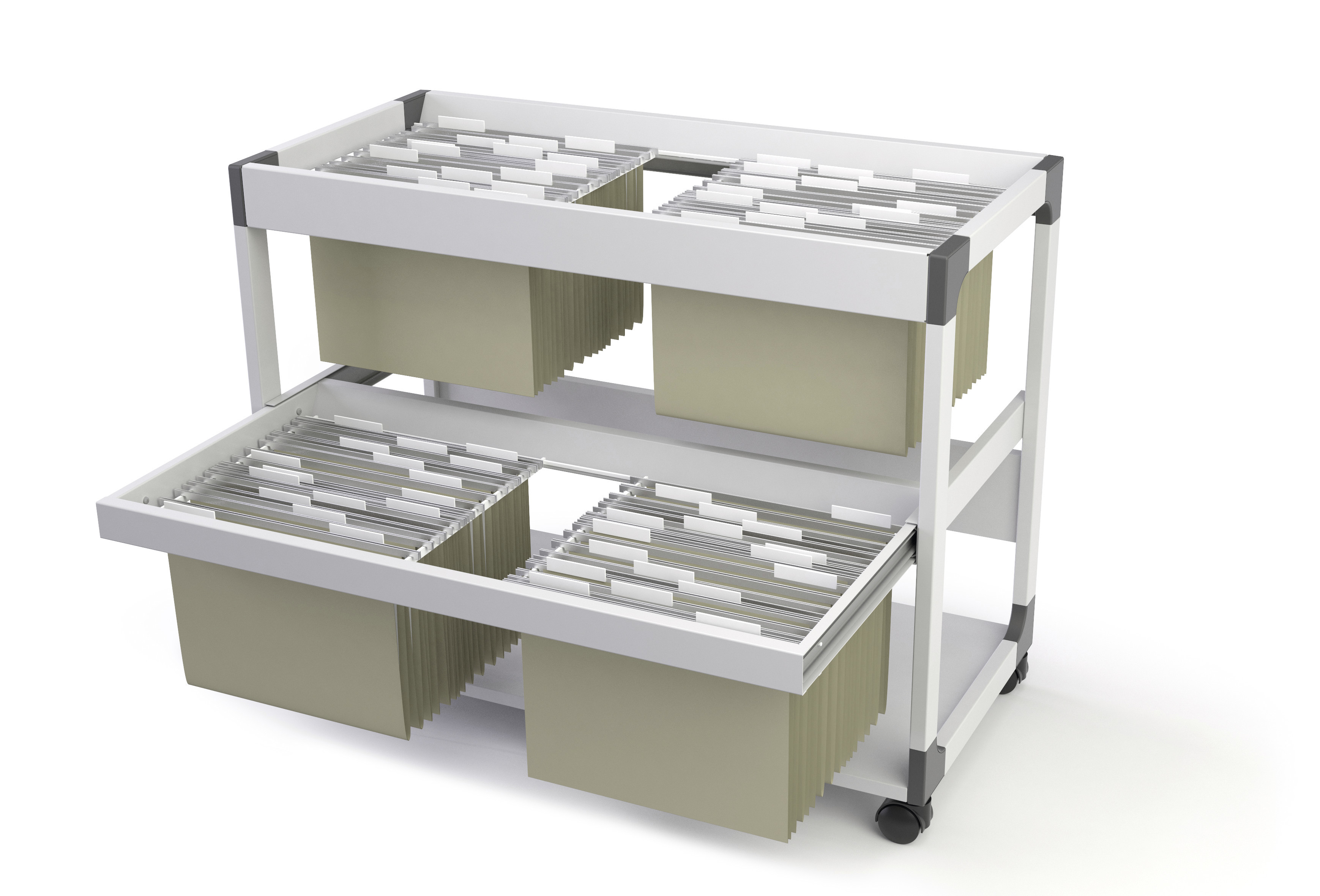 DURABLE SYSTEM FILE TROLLEY 200 MULTI DUO 1 ST Z379299