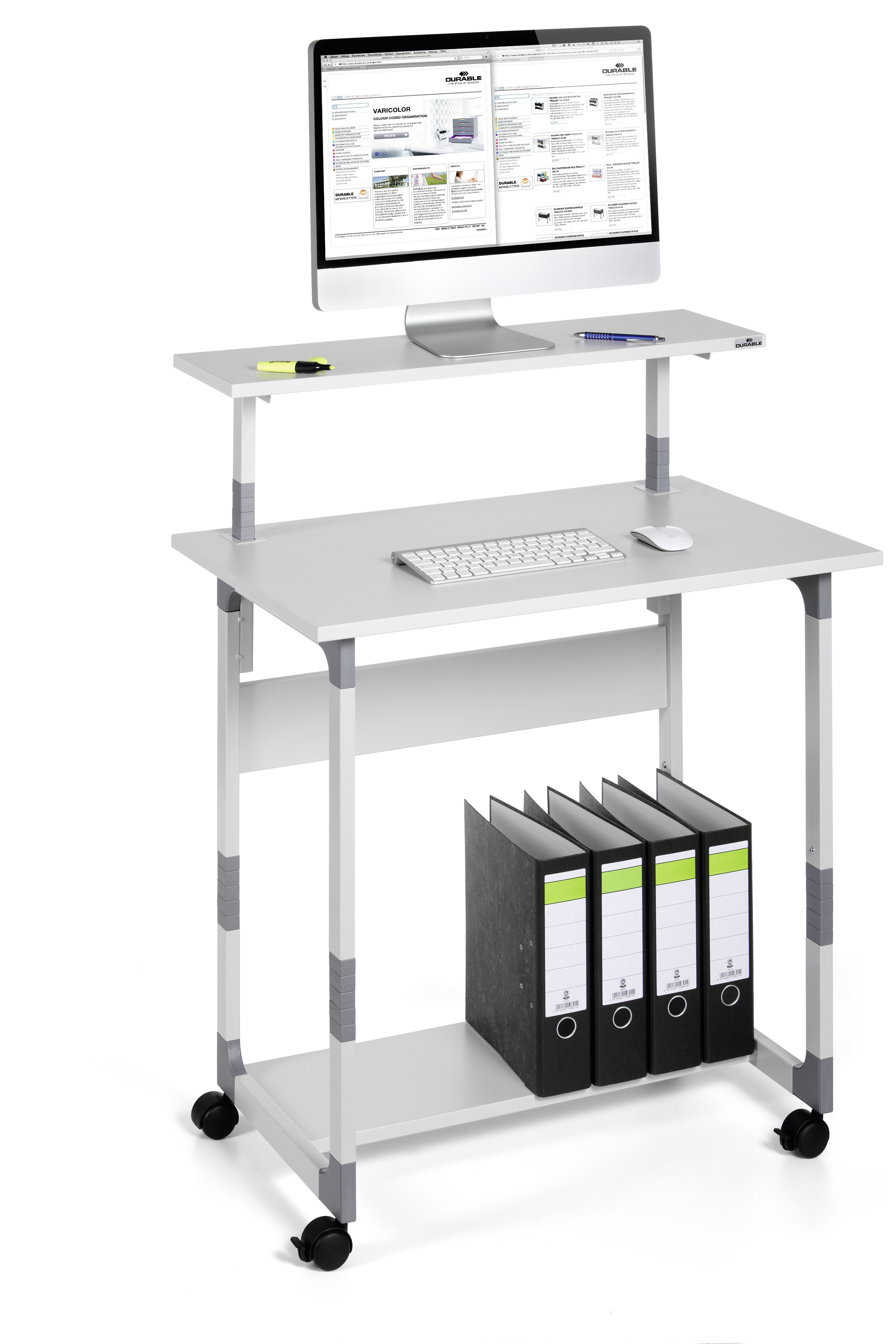 DURABLE SYSTEM COMPUTER TROLLEY 80 VH 1 ST Z371899