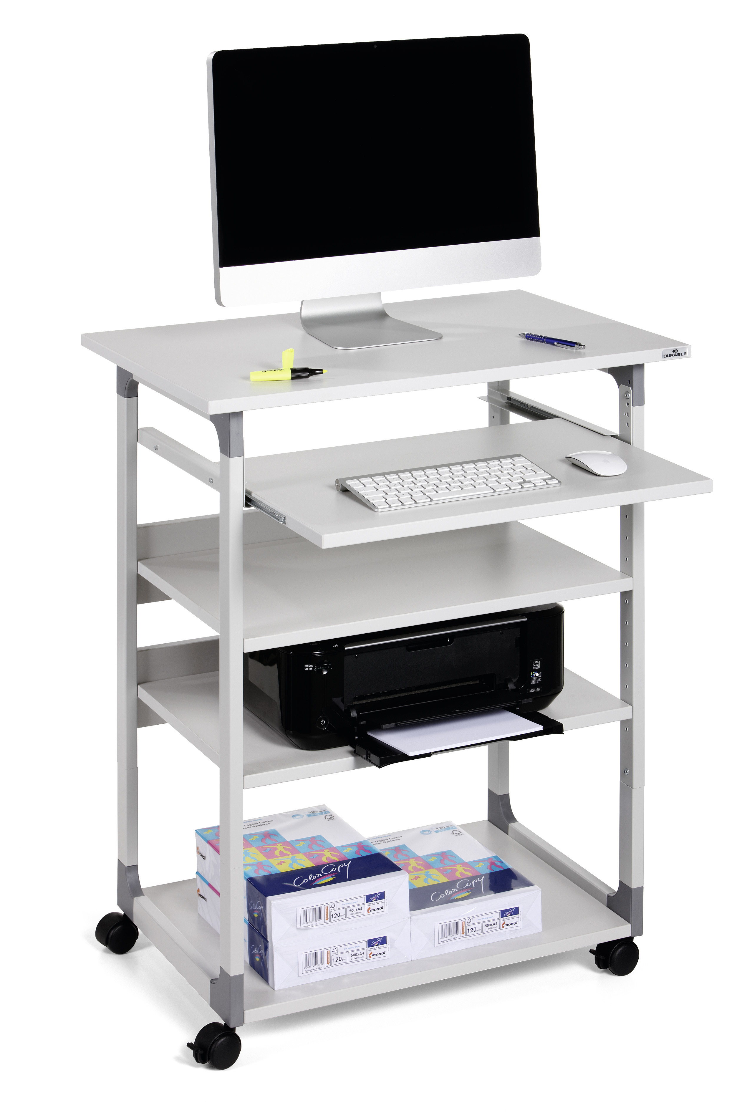 DURABLE SYSTEM COMPUTER TROLLEY 75 VH 1 ST Z372099