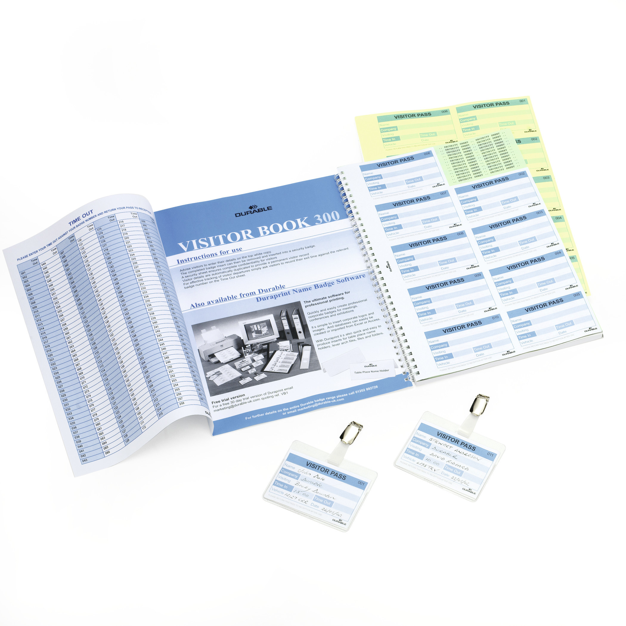 DURABLE VISITORS BOOK 300 REFILL 1 ST Z146699